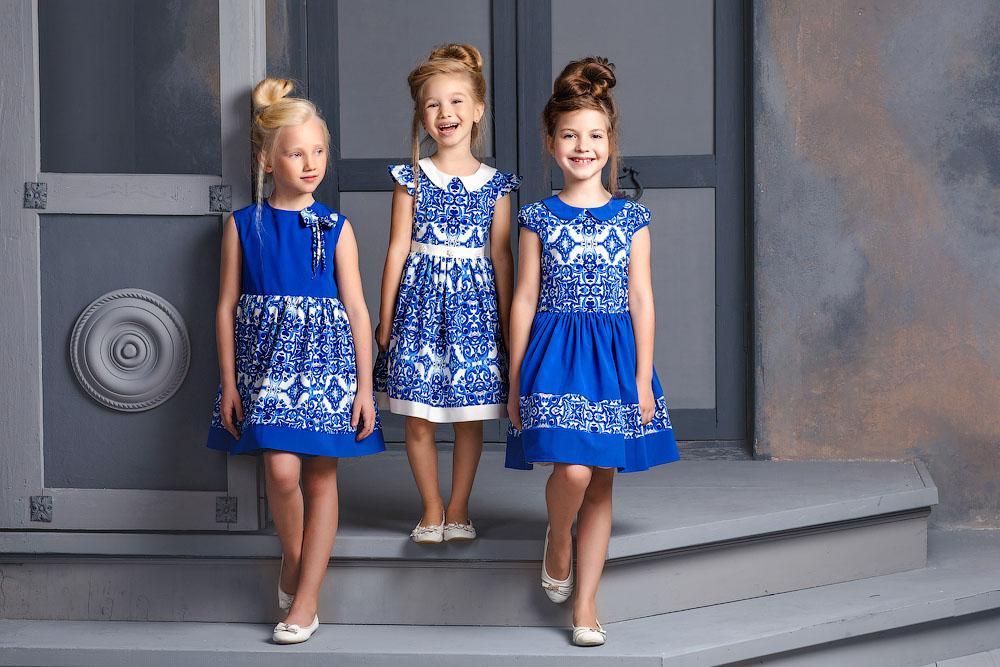платья в стиле гжель русский стиль